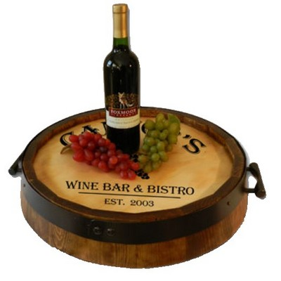 Quarter Barrel Head Serving Tray